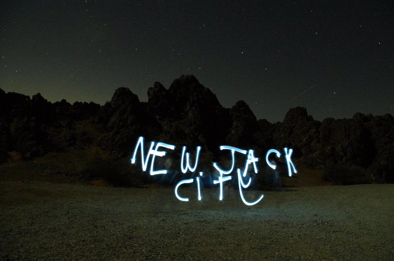 Rock Climbing Photo: Light Painting at New jack City after a long day i...