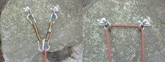 Rock Climbing Photo: Rope running through fixe rings