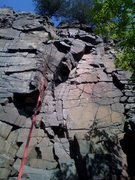 Rock Climbing Photo: Wall to the right of red rope is 'Pink Pants'