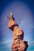 Rock Climbing Photo: Double geetar shredding on the summit!!  The story...