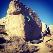 first ever highball boulder problem. v0 in the buttermilks