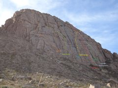 Rock Climbing Photo: Some of the routes on Checkerboard. Photo Nate Mye...