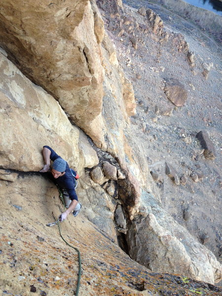 Rock Climbing Photo: The short 5.10 pitch.