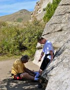 Rock Climbing Photo: Tighten up the right one a little, I plan on 'send...