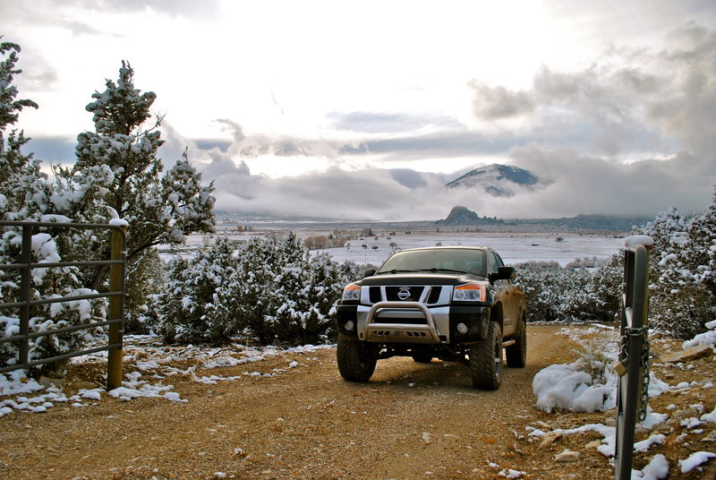 Rock Climbing Photo: Early snow in Castle Valley.