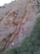 Rock Climbing Photo: First two pitches. Original photo by travisty.