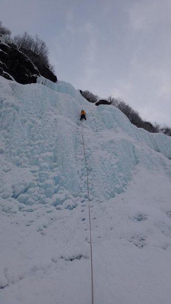 Myself on P1 of Bridalveil falls. 03/30/2013