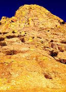 Rock Climbing Photo: West Face Route on Middle Rabbit Ear. Photo Terry ...