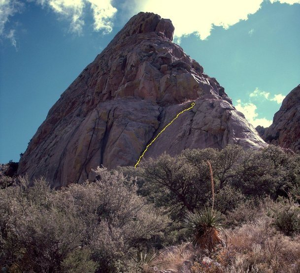 The top part of the route. It's not nearly as straight as it appears in this perspective. Photo by [[106221979]].