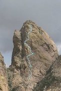 Rock Climbing Photo: West Face route. Photo Bob Cort.