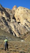 Rock Climbing Photo: Looking up into the slot canyon approach