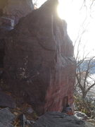 Rock Climbing Photo: Birthday arete is the pillar in the center