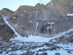 Rock Climbing Photo: Current Long's Peak ice conditions.