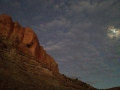Rock Climbing Photo: twilight on Shinobe