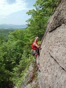 """Rock Climbing Photo: Cleaning """"Way of the Peaceful Warrior"""" L..."""