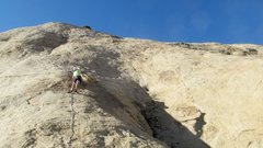 Rock Climbing Photo: Graham low on the route