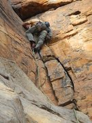 Rock Climbing Photo: jamming up prerequisite to Excellence at T-Wall