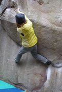 Rock Climbing Photo: Me showcasing some super short person beta with a ...
