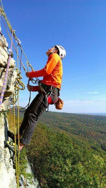 Rock Climbing Photo: Gunks - Madame G's hanging belay