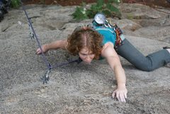 Rock Climbing Photo: slabby section of independence day, as viewed from...