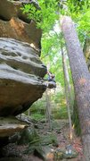 Rock Climbing Photo: This is the arete. You'll actually want to start o...