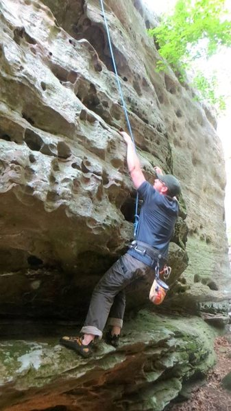 Rock Climbing Photo: bryan exploring the route