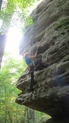 Rock Climbing Photo: Kate being glad this route isn't as slick as Hidde...