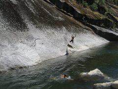 Rock Climbing Photo: Falling (voluntarily?) off of Trout Fishing in Ame...