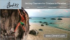 Rock Climbing Photo: ClimbVI website splash screen