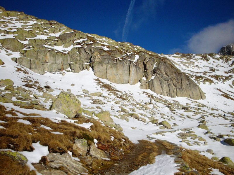 Rock Climbing Photo: Lutersee crag in early November