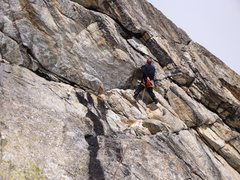 Rock Climbing Photo: Valerie N heading into the steeper upper section