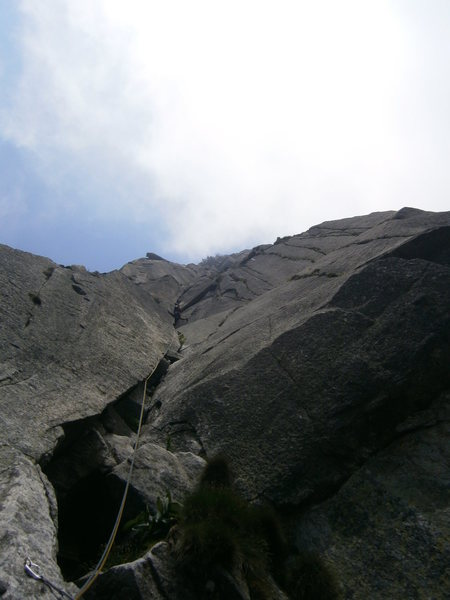 Rock Climbing Photo: Pitch four of Alpentraum (6b)