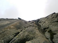 Rock Climbing Photo: Pitch six of Alpentraum (7a)