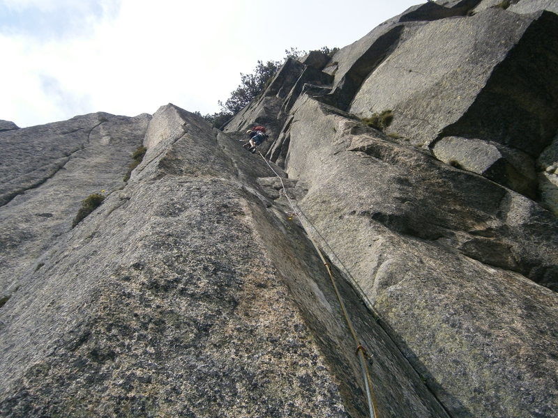 Pitch seven of Alpentraum (6c)