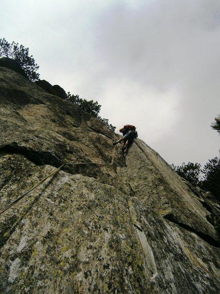Pitch nine of Alpentraum (6c)