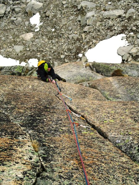Rock Climbing Photo: Pitch one of Sacremotion (6c)