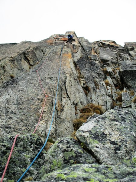 Rock Climbing Photo: Pitch two of Sacremotion (7a)