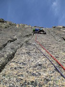 Rock Climbing Photo: Pitch two of Kater Garfield (6b)