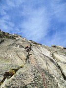 Rock Climbing Photo: Pitch three of Kater Garfield (6c)