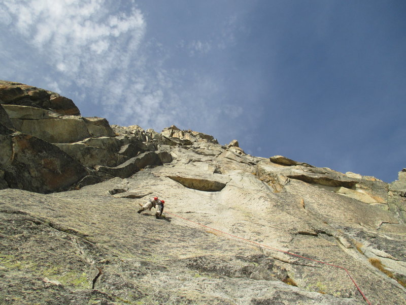 Rock Climbing Photo: Pitch four of Kater Garfield (6c+)