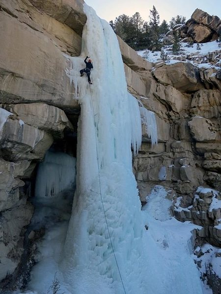 Rock Climbing Photo: Leading the Donorcicle in fatter conditions.