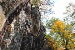 Rock Climbing Photo: Waimea 5.10d Rumney, NH