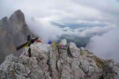 Rock Climbing Photo: Summit in the clouds