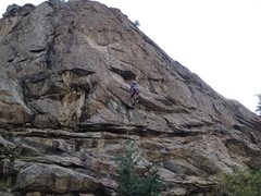 Rock Climbing Photo: Erin Miller pulling the 1st roof (crux) of Child's...