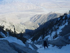 Rock Climbing Photo: snow creek in january