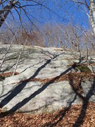 Rock Climbing Photo: The right side of Super Slab.  The pic makes it lo...