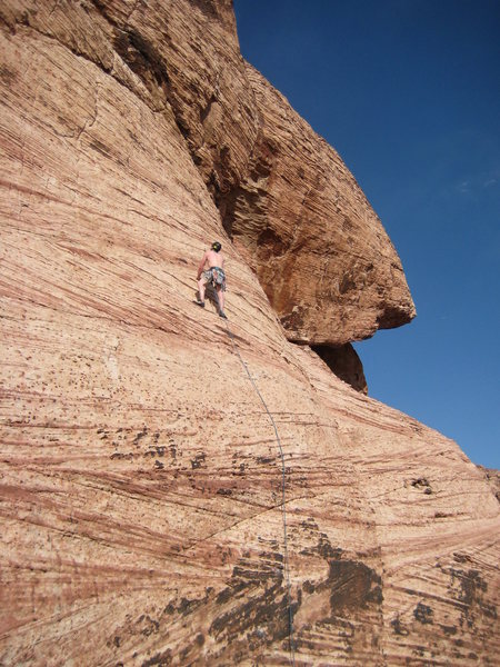 Rock Climbing Photo: After the crux (frist 2 bolts) it gets much easier...