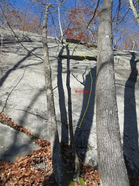 Rock Climbing Photo: The start of Athlete's Feat