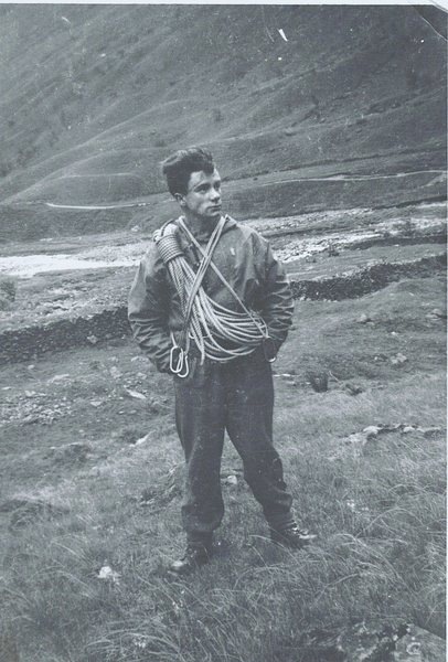 Styhead Pass 1954. Nailed boots.