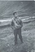 Rock Climbing Photo: Styhead Pass 1954. Nailed boots.